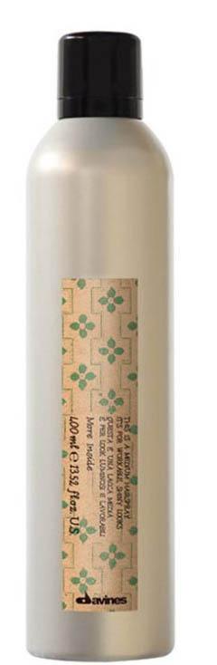 Davines More Inside Extra Strong Hair-spray its for Mmaximum Hold Лак экстра сильной фиксации для экстремальной стойкости укладки, 400 мл3078Моделирующая помада Davines помогает придавать волосам текстуру без утяжеления. Средство незаметно на волосах, позволяет менять форму укладки, запоминая созданные очертания. Особая формула обеспечивает наполнение влагой и позволяет налету оставаться на волосах. Благодаря постепенному высвобождению действующих компонентов эффект поддерживается долгое время. Способ применения:Помада Давинес рекомендована для коротких волос. Для получения волнистой текстуры наносите на влажные волосы, для четких очертаний – на сухие. Объем: 400 мл