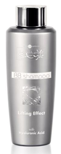Hair Company Professional Inimitable Style BB Shampoo Шампунь, 250 млFS-00103Шампунь для волос с лифтинг эффектом для блеска, мягкости и восстановления волос. Получите великолепный уход для Ваших локонов! Состав обогащен концентрированной гиалуроновой кислотой, кератином и аргановым маслом. В составе с чистая гиалуроновая кислота, что гарантирует мгновенное ативозрастное действие. Дополнительное присутствие масло аргана и кератин-гидратов - восстанавливает и придает блеск волосам. Шампунь отлично смягчает волосы, поэтому особенно хорош для жестких локонов. Не содержит парабеныРезультат: Волосы восстановлены и выглядят заметно более здоровым, помолодевшими.Способ применения:Нанесите на влажные волосы, помассируйте. Оставить на 2-3 минуты, затем смойте. Повторите операцию, если необходимо.Объем: 250 мл