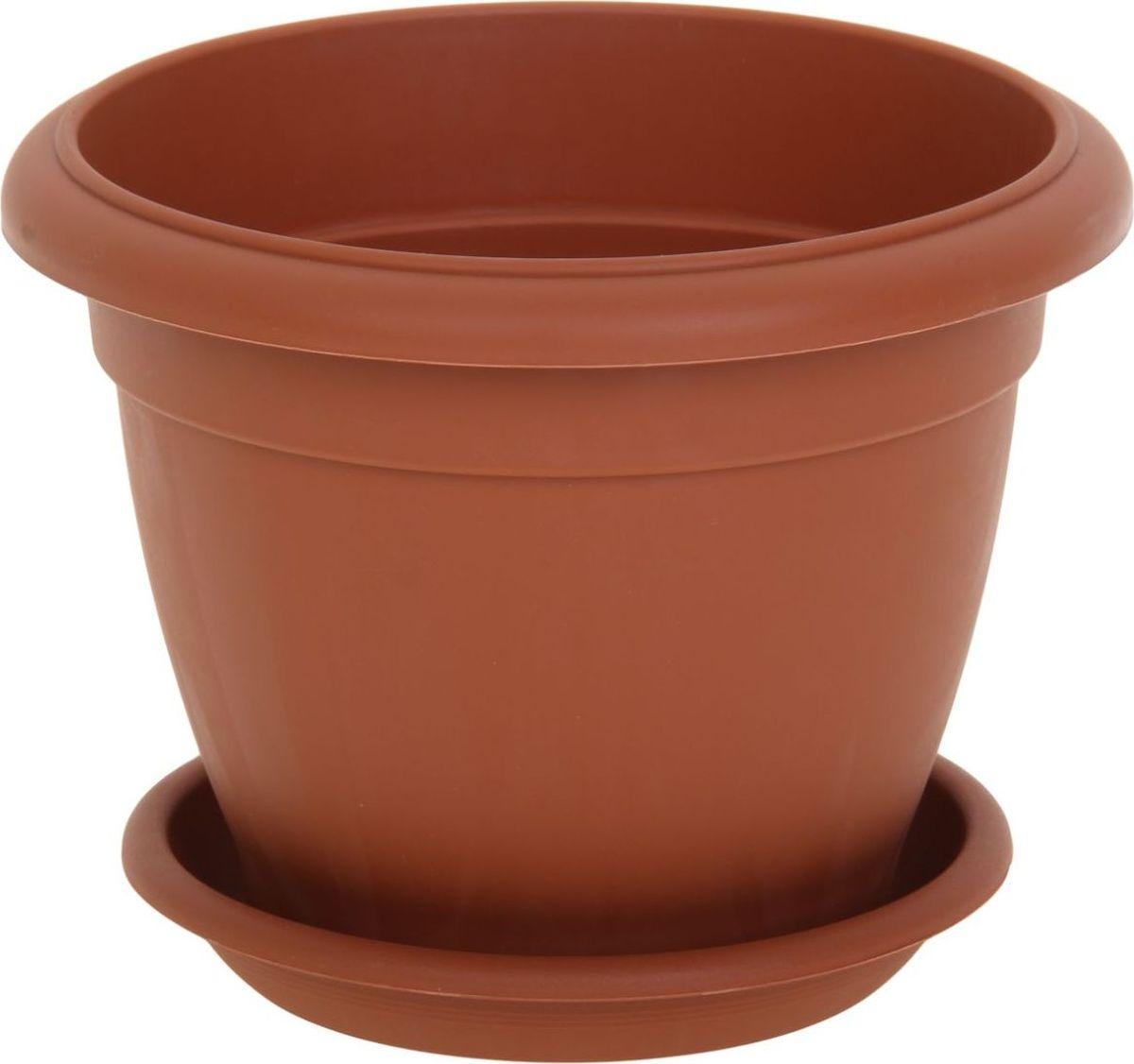 Горшок для цветов ТЕК.А.ТЕК Le Jardin, цвет: терракотовый, 6 лA6483LM-6WHЛюбой, даже самый современный и продуманный интерьер будет не завершённым без растений. Они не только очищают воздух и насыщают его кислородом, но и заметно украшают окружающее пространство. Такому полезному члену семьи просто необходимо красивое и функциональное кашпо, оригинальный горшок или необычная ваза! Мы предлагаем - Горшок для цветов Le Jardin, d=20 см, цвет терракот! Оптимальный выбор материала пластмасса! Почему мы так считаем? Малый вес. С лёгкостью переносите горшки и кашпо с места на место, ставьте их на столики или полки, подвешивайте под потолок, не беспокоясь о нагрузке. Простота ухода. Пластиковые изделия не нуждаются в специальных условиях хранения. Их легко чистить достаточно просто сполоснуть тёплой водой. Никаких царапин. Пластиковые кашпо не царапают и не загрязняют поверхности, на которых стоят. Пластик дольше хранит влагу, а значит растение реже нуждается в поливе. Пластмасса не пропускает воздух корневой системе растения не грозят резкие перепады температур. Огромный выбор форм, декора и расцветок вы без труда подберёте что-то, что идеально впишется в уже существующий интерьер. Соблюдая нехитрые правила ухода, вы можете заметно продлить срок службы горшков, вазонов и кашпо из пластика: всегда учитывайте размер кроны и корневой системы растения (при разрастании большое растение способно повредить маленький горшок)берегите изделие от воздействия прямых солнечных лучей, чтобы кашпо и горшки не выцветалидержите кашпо и горшки из пластика подальше от нагревающихся поверхностей. Создавайте прекрасные цветочные композиции, выращивайте рассаду или необычные растения, а низкие цены позволят вам не ограничивать себя в выборе.
