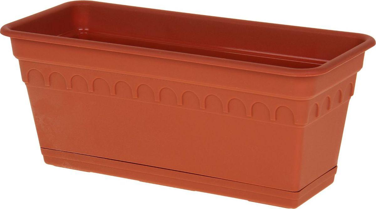 Ящик для цветов Martika Колывань, балконный, цвет: терракотовый, 40 х 17 х 17 см531-401Любой, даже самый современный и продуманный интерьер будет не завершённым без растений. Они не только очищают воздух и насыщают его кислородом, но и заметно украшают окружающее пространство. Такому полезному члену семьи просто необходимо красивое и функциональное кашпо, оригинальный горшок или необычная ваза! Мы предлагаем - Ящик для растений балконный Колывань 40 см с поддоном, цвет терракотовый! Оптимальный выбор материала пластмасса! Почему мы так считаем? Малый вес. С лёгкостью переносите горшки и кашпо с места на место, ставьте их на столики или полки, подвешивайте под потолок, не беспокоясь о нагрузке. Простота ухода. Пластиковые изделия не нуждаются в специальных условиях хранения. Их легко чистить достаточно просто сполоснуть тёплой водой. Никаких царапин. Пластиковые кашпо не царапают и не загрязняют поверхности, на которых стоят. Пластик дольше хранит влагу, а значит растение реже нуждается в поливе. Пластмасса не пропускает воздух корневой системе растения не грозят резкие перепады температур. Огромный выбор форм, декора и расцветок вы без труда подберёте что-то, что идеально впишется в уже существующий интерьер. Соблюдая нехитрые правила ухода, вы можете заметно продлить срок службы горшков, вазонов и кашпо из пластика: всегда учитывайте размер кроны и корневой системы растения (при разрастании большое растение способно повредить маленький горшок)берегите изделие от воздействия прямых солнечных лучей, чтобы кашпо и горшки не выцветалидержите кашпо и горшки из пластика подальше от нагревающихся поверхностей. Создавайте прекрасные цветочные композиции, выращивайте рассаду или необычные растения, а низкие цены позволят вам не ограничивать себя в выборе.