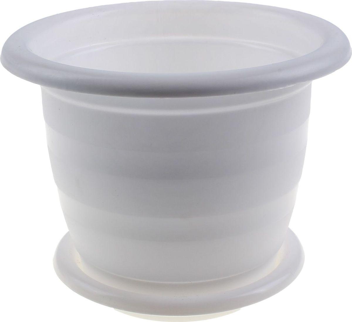 Горшок для цветов Альтернатива Виола, с поддоном, цвет: белый, 16 л531-401Любой, даже самый современный и продуманный интерьер будет не завершённым без растений. Они не только очищают воздух и насыщают его кислородом, но и заметно украшают окружающее пространство. Такому полезному члену семьи просто необходимо красивое и функциональное кашпо, оригинальный горшок или необычная ваза! Мы предлагаем - Горшок для цветов 16 л Виола, с поддоном, цвет белый! Оптимальный выбор материала пластмасса! Почему мы так считаем? Малый вес. С лёгкостью переносите горшки и кашпо с места на место, ставьте их на столики или полки, подвешивайте под потолок, не беспокоясь о нагрузке. Простота ухода. Пластиковые изделия не нуждаются в специальных условиях хранения. Их легко чистить достаточно просто сполоснуть тёплой водой. Никаких царапин. Пластиковые кашпо не царапают и не загрязняют поверхности, на которых стоят. Пластик дольше хранит влагу, а значит растение реже нуждается в поливе. Пластмасса не пропускает воздух корневой системе растения не грозят резкие перепады температур. Огромный выбор форм, декора и расцветок вы без труда подберёте что-то, что идеально впишется в уже существующий интерьер. Соблюдая нехитрые правила ухода, вы можете заметно продлить срок службы горшков, вазонов и кашпо из пластика: всегда учитывайте размер кроны и корневой системы растения (при разрастании большое растение способно повредить маленький горшок)берегите изделие от воздействия прямых солнечных лучей, чтобы кашпо и горшки не выцветалидержите кашпо и горшки из пластика подальше от нагревающихся поверхностей. Создавайте прекрасные цветочные композиции, выращивайте рассаду или необычные растения, а низкие цены позволят вам не ограничивать себя в выборе.