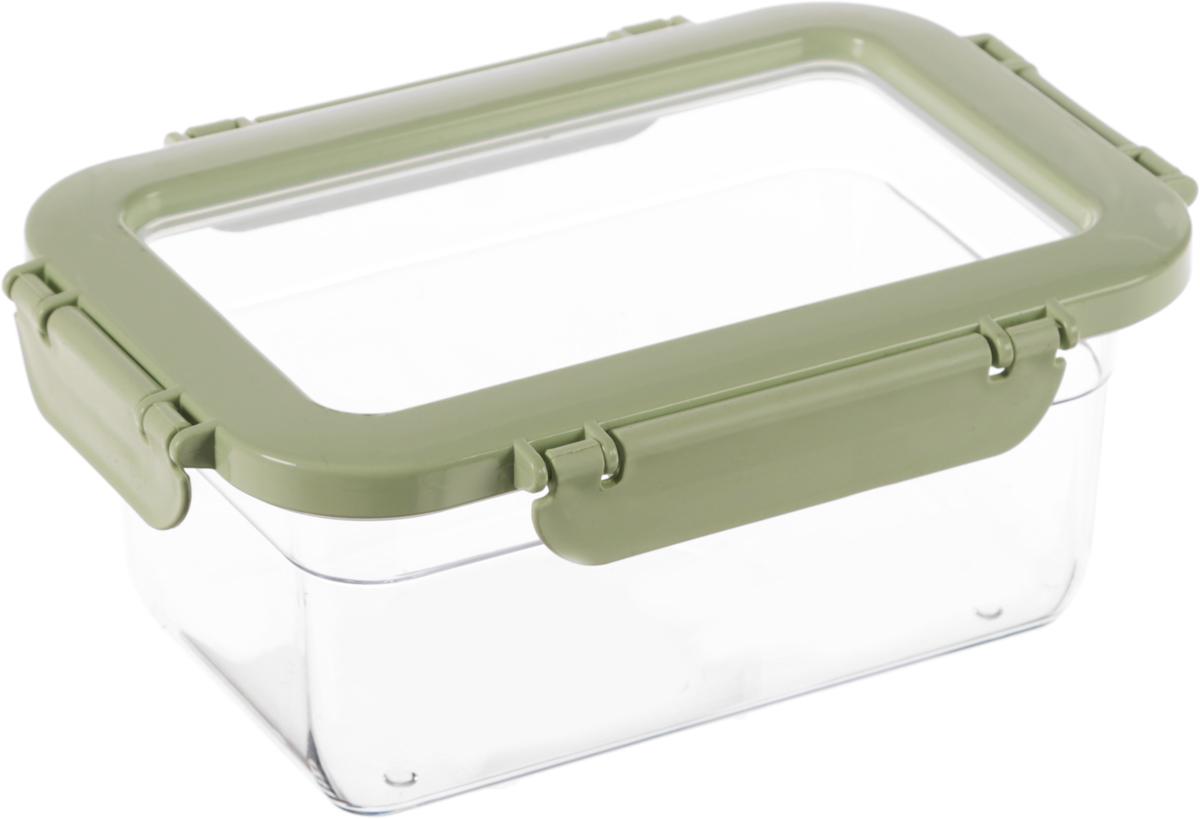 Контейнер для продуктов Herevin, цвет: светло-зеленый, прозрачный, 1 лVT-1520(SR)Контейнер для продуктов Herevin изготовлен из качественного пищевого пластика без содержания BPA. Крышка с 4 защелками плотно и герметично закрывается, что позволяет сохранять продукты свежими долгое время. Прозрачные стенки позволяют видеть содержимое. Такой контейнер подойдет для использования дома, его можно взять с собой на работу, учебу, в поездку. Можно использовать в микроволновой печи без крышки, ставить в холодильник. Нельзя мыть в посудомоечной машине.