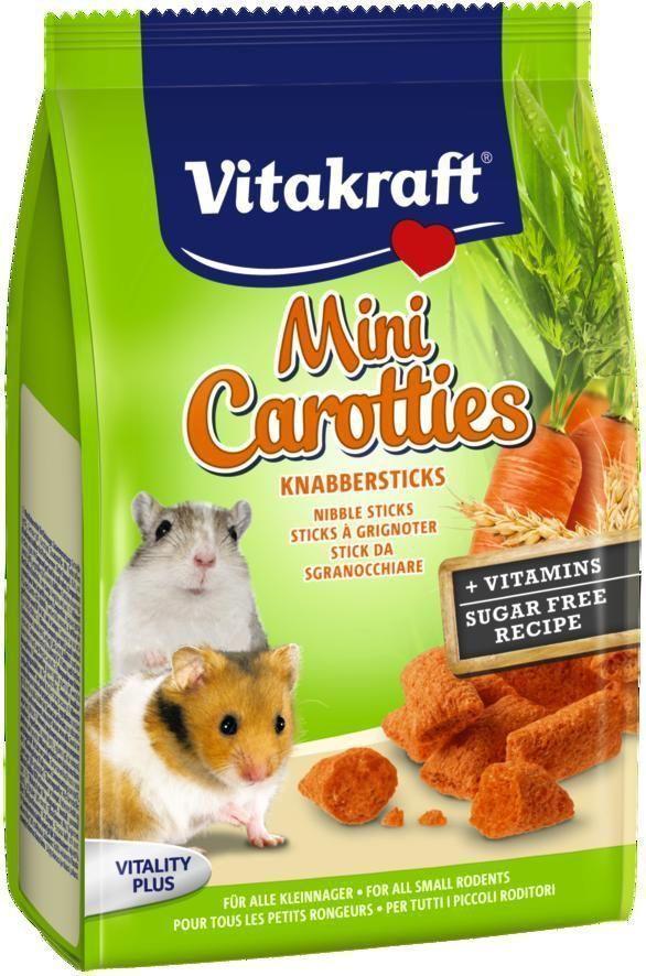 Лакомство для мелких грызунов Vitakraft, подушечки с морковью, 50 г0120710Лакомство для всех видов мелких грызунов подушечки с морковью. Содержат жизненно важные витамины. Подушечки отлично подходят для игр и тренировки. Специальный мини размер для мелких грызунов всех видов.