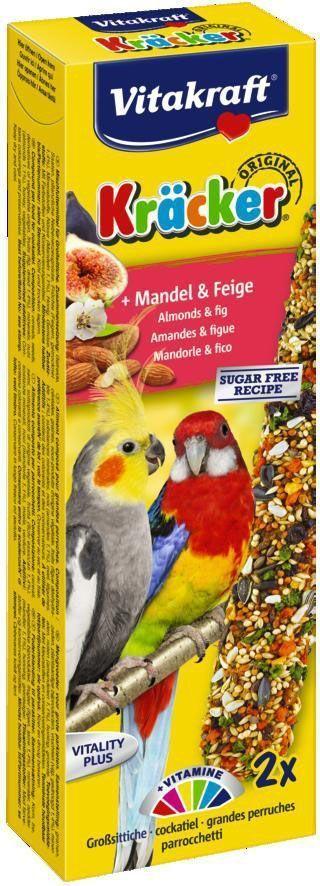 Крекеры для австралийских попугаев Vitakraft, фруктовые, 2 шт.0120710Питательный крекер, обогащенный витаминами. Стимулирует процессы роста, защищает кожу, регулирует обменные процессы, влияет на остроту зрения. Мотивирует птицу самостоятельно добывать себе зерно, как в дикой природе.