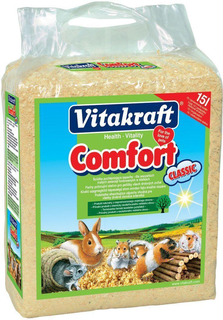 Опилки для грызунов Vitakraft Comfort Classic, 15 л0120710Подстилка для всех маленьких животных. Без вредителей, термически обработан
