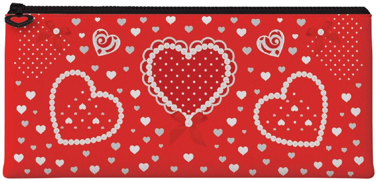 Brauberg Пенал-косметичка Сердце84701ОПенал-косметичка предназначен для детей 7-10 лет. Он выполнен в ярких цветах и дополнен необычным принтом.•1 отделение. •Размер: 20х10 см. •Индивидуальная упаковка с европодвесом.