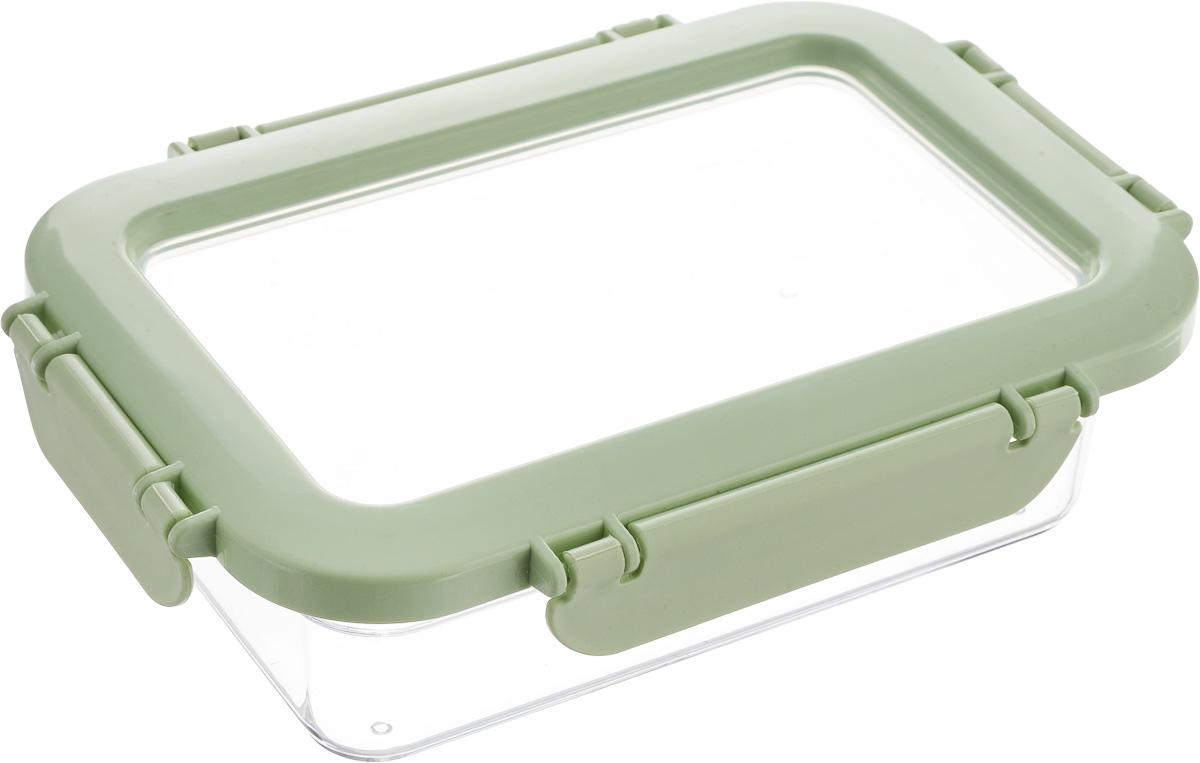 Контейнер для продуктов Herevin, цвет: мятный, прозрачный, 600 мл. 161426-500VT-1520(SR)Контейнер для продуктов Herevin изготовлен из качественного пищевого пластика без содержания BPA. Крышка с 4 защелками плотно и герметично закрывается, поэтому продукты дольше остаются свежими. Прозрачные стенки позволяют видеть содержимое. Такой контейнер подойдет для использования дома, его можно взять с собой на работу, учебу, в поездку. Можно использовать в микроволновой печи без крышки. Нельзя мыть в посудомоечной машине.