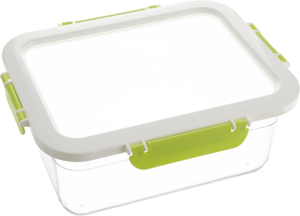 Контейнер для продуктов Herevin, цвет: прозрачный, белый, зеленый, 2,2 лVT-1520(SR)Контейнер для продуктов Herevin изготовлен из качественного пищевого пластика без содержания BPA. Крышка с 4 защелками плотно и герметично закрывается, поэтому продукты дольше остаются свежими. Прозрачные стенки позволяют видеть содержимое. Такой контейнер подойдет для использования дома, его можно взять с собой на работу, учебу, в поездку. Можно использовать в микроволновой печи без крышки. Нельзя мыть в посудомоечной машине.