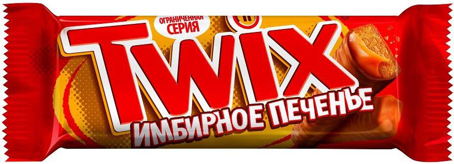 Twix Имбирное печенье шоколадный батончик, 55 г0120710Шоколадные батончики Twix Имбирное печенье - это хрустящее печенье, густая карамель, смесь специй и великолепный молочный шоколад. Чаепитие с Твикс в компании коллег, друзей или родных - отличное способ провести свободное время. Сделай паузу - скушай Твикс.