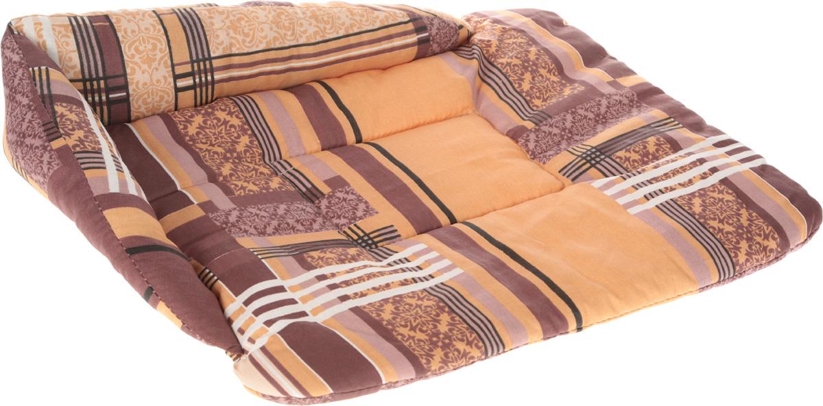 Лежак для животных Elite Valley Софа, цвет: коричневый, бежевый, белый, 56 х 44 х 13 см. Л-5/30120710Лежак для животных Elite Valley Софа изготовлен из высококачественной бязи, наполнитель - холлофайбер. Он станет излюбленным местом вашего питомца, подарит ему спокойный и комфортный сон, а также убережет вашу мебель от шерсти. На таком лежаке вашему любимцу будет мягко и тепло. Яркий дизайн позволяет выглядеть привлекательным даже в период линьки.