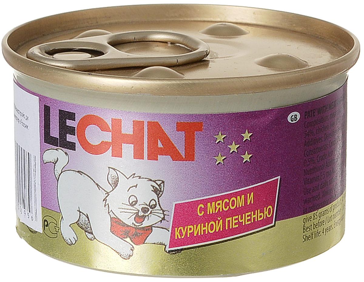 Консервы для кошек Monge Lechat, мусс с мясом и куриной печенью, 85 г0120710Консервы Monge Lechat - это полнорационный корм для кошек. В его состав входят все необходимые витамины и минеральные вещества для поддержания здоровья и активности кошки. Не содержит красителей, консервантов и сахара. Товар сертифицирован.Уважаемые клиенты! Обращаем ваше внимание на возможные изменения в дизайне упаковки. Качественные характеристики товара остаются неизменными. Поставка осуществляется в зависимости от наличия на складе.