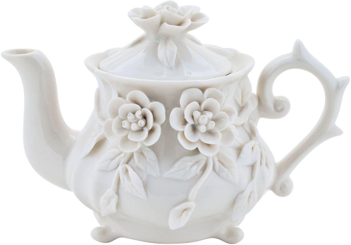 Чайник заварочный Elff Decor Italy Design, 250 мл94672Чайник из серии посуды Italy design, в которой каждый предмет выглядит невероятно нежно и изысканно. Нежные цветы и порхающие бабочки, эта роскошная коллекция - образец гармоничного дизайна в романтическом стиле. Оригинальная посуда на ножках сделает неповторимым ваш интерьер!