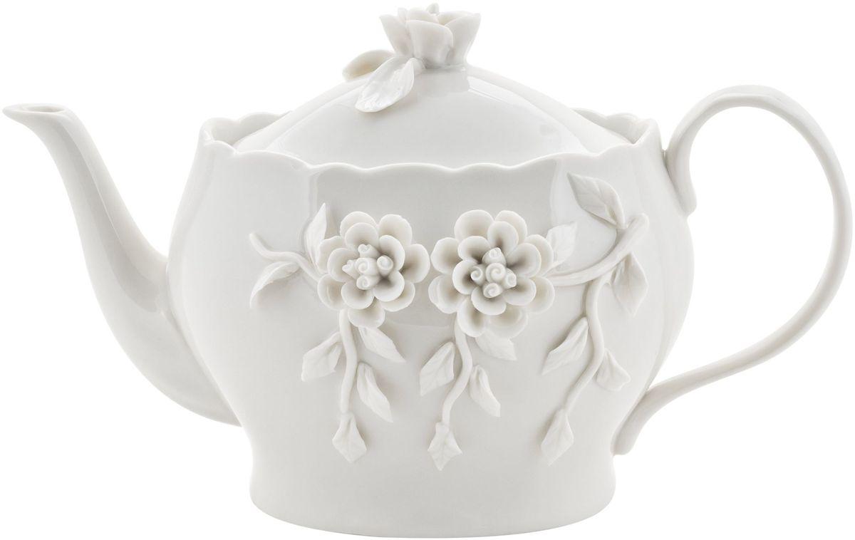 Чайник заварочный Elff Decor Italy Design, 950 мл94672Чайник из серии посуды Italy design, в которой каждый предмет выглядит невероятно нежно и изысканно. Нежные цветы и порхающие бабочки, эта роскошная коллекция - образец гармоничного дизайна в романтическом стиле. Оригинальная посуда на ножках сделает неповторимым ваш интерьер!