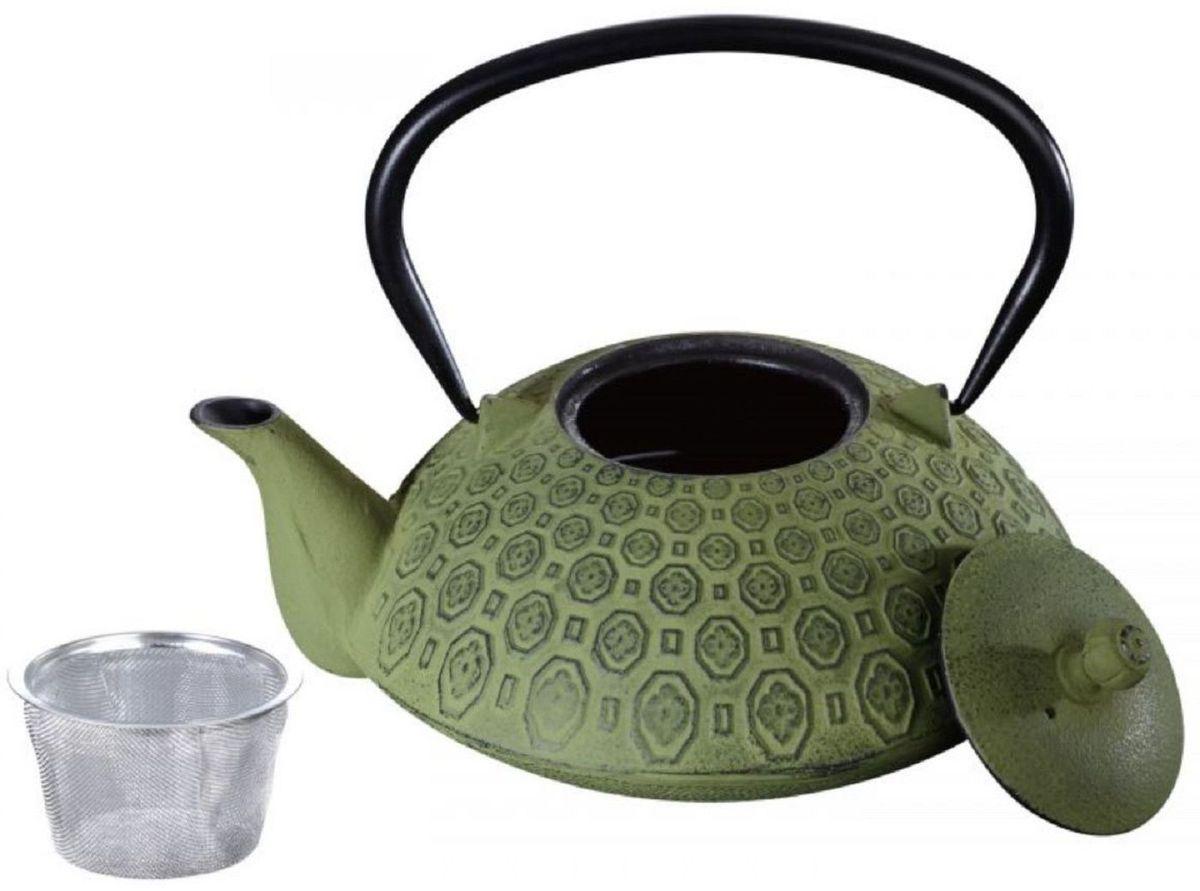 Чайник заварочный чугунный Elff Decor, с фильтром, цвет: зеленый, 1,2 лCM000001328Заварник для час с фильтром Чугун Можно мыть в посудомоечной машине Емкость-1,200мл