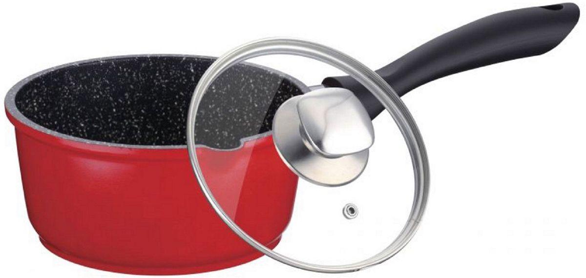 Ковш Elff Decor с крышкой, с гранитным покрытием, цвет: красный, 1,25 лa026124Ковш Изготовлен из литого алюминия с цветным внешним покрытием Внутреннее гранитное покрытие Дно обеспечивает равномерное нагревание Стеклянная крышка с металлической ручкой Пригоден для мытья в посудомоечной машине. d.16 см,размер 16х8,5см Ёмкость 1,25 л.