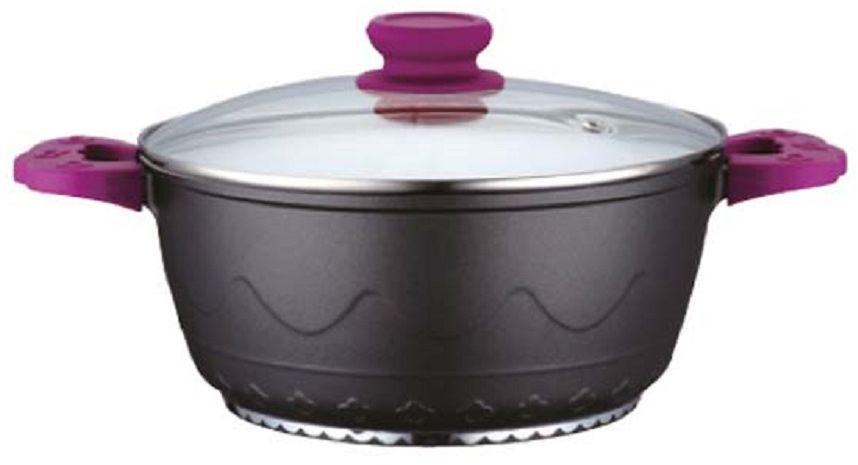 Кастрюля Elff Decor с крышкой, с керамическим покрытием, цвет: фиолетовый, 2 лCM000001328Кастрюля Изготовлена из алюминия Внутреннее покрытие-стойкая белая керамика 3-х слойное капсульное дно обеспечивает равномерное нагревание Стеклянная крышка Ненагревающие ручки со съемными силиконовыми ручками Пригодна для использования в духовке Пригодна для мытья в посудомоечной машине. d.20 см Ёмкость 2,0 л.
