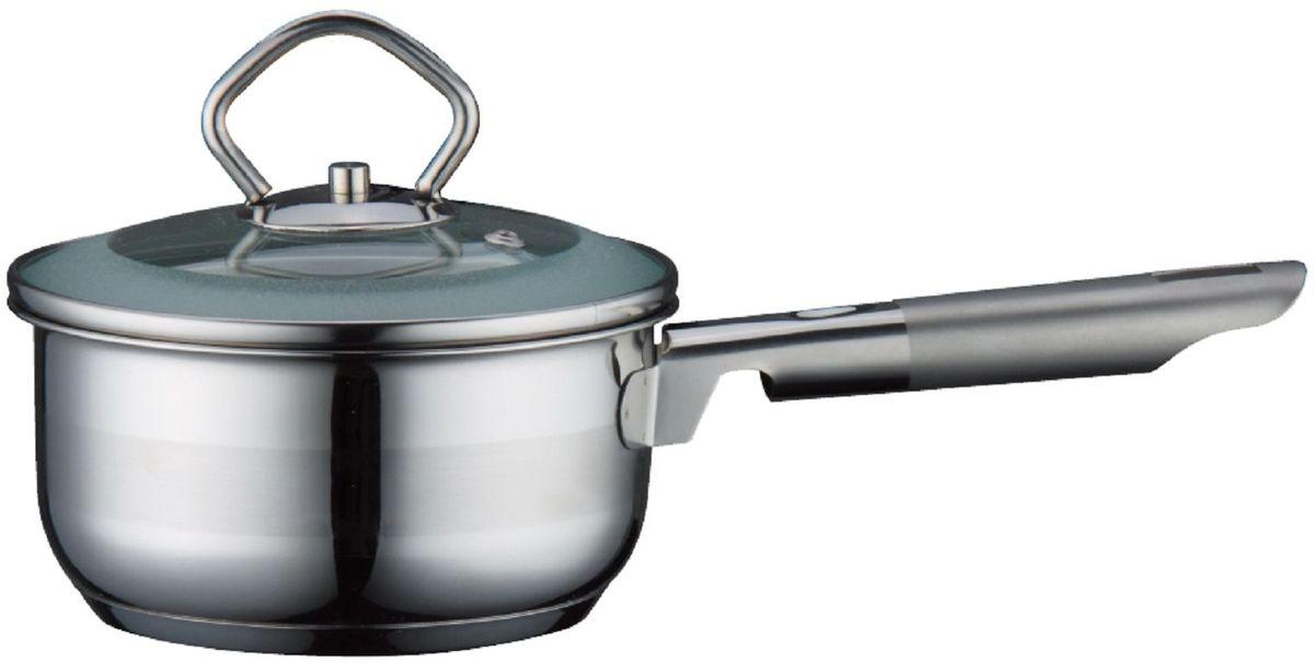 Ковш Elff Decor с крышкой, 1 лАМNB-503Ковш Высококачественная нержавеющая сталь 18/10 3-х слойное капсульное дно равномерно распределяет тепло Стеклянная крышка Можно мыть в посудомоечной машине d.14 см., емкость-1,0 л