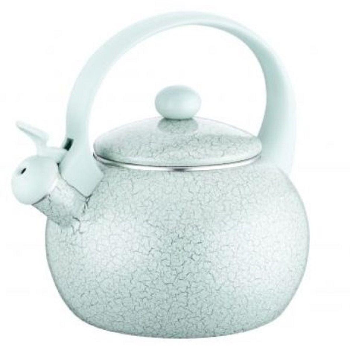 Чайник эмалированный Elff Decor, со свистком, 2,2 л. 1407-098CM000001328Чайник со свистком Эмалированное покрытие Удобная ручка из цветного бакелита Подходит для всех видов кухонных плит Можно мыть в посудомоечной машине Емкость-2,2 л