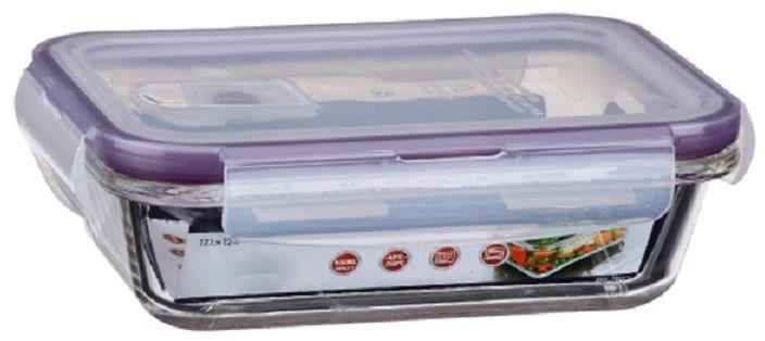 Контейнер для продуктов Elff Decor, цвет: фиолетовый, 500 млVT-1520(SR)Контейнер для хранения и запекания с вакуумной крышкой Изготовлена из жаропрочного стекла Температурный режим:-40С до 200С Размер: 17,1 х 12 х 4,6 см Объем-0,5 л