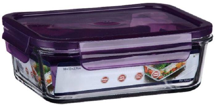 Контейнер для продуктов Elff Decor, цвет: фиолетовый, 650 млVT-1520(SR)Контейнер для хранения и запекания с герметичной крышкой Изготовлена из жаропрочного стекла Температурный режим:-40С до 200С Размер: 15,9 х 11,4 х 5,7 см Объем-0,650 л