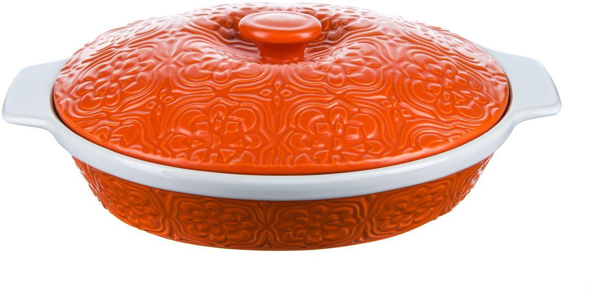 Форма для запекания Elff Decor с крышкой, овальная, цвет: оранжевый, 2,2 л94672Форма для запекания с крышкой Изготовлена из жаропрочной керамики Размер: 23,5 см х 29,5 см х 7,5 см Объем-2,2 л