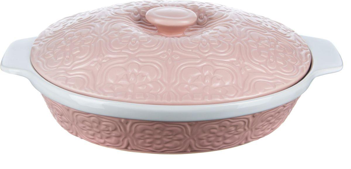 Форма для запекания Elff Decor с крышкой, овальная, цвет: розовый, 2,2 лCM000001328Форма для запекания с крышкой Изготовлена из жаропрочной керамики Размер: 23,5 см х 29,5 см х 7,5 см Объем-2,2 л