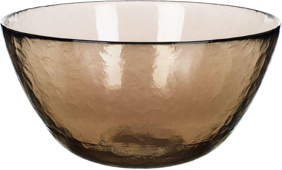 Чаша Elff Decor Оливия, цвет: оливковый, прозрачный, диаметр 21 см115610Тарелка прозрачнаяиз стекла, дополнит повседневную или праздничную сервировкустола.