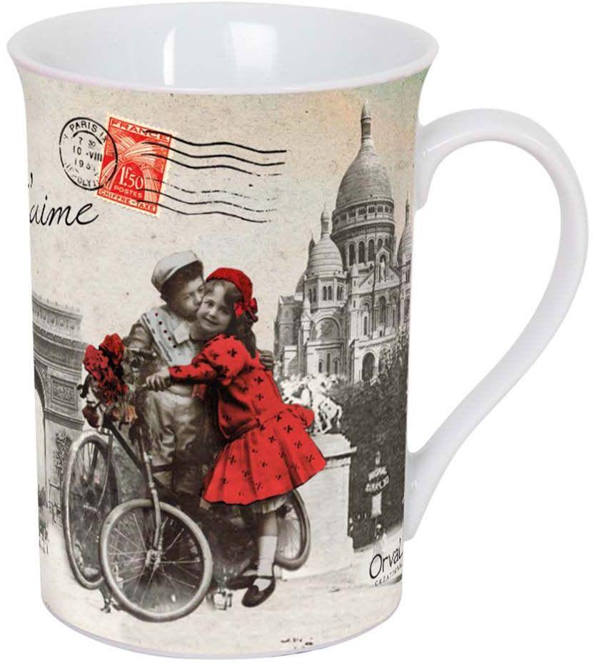 Кружка ORVAL Париж, я тебя люблю, 270 млVT-1520(SR)Кружка украсит Ваш ежедневный завтрак или чашку чая или кофе Изящное дополнение к своей столовой посуде