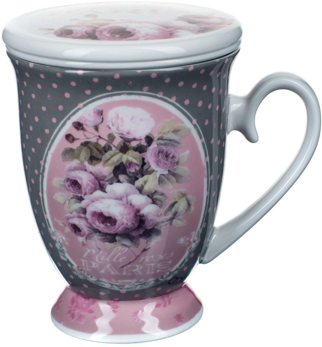 Кружка заварочная ORVAL Тысяча роз Парижа, с фильтром, 2 предмета94672Для экономии времени была придумана заварочная кружка, с помощью которой можно удобно и быстро заварить чай. Она позволяет совмещать удобство и комфорт с полезностью и качеством.