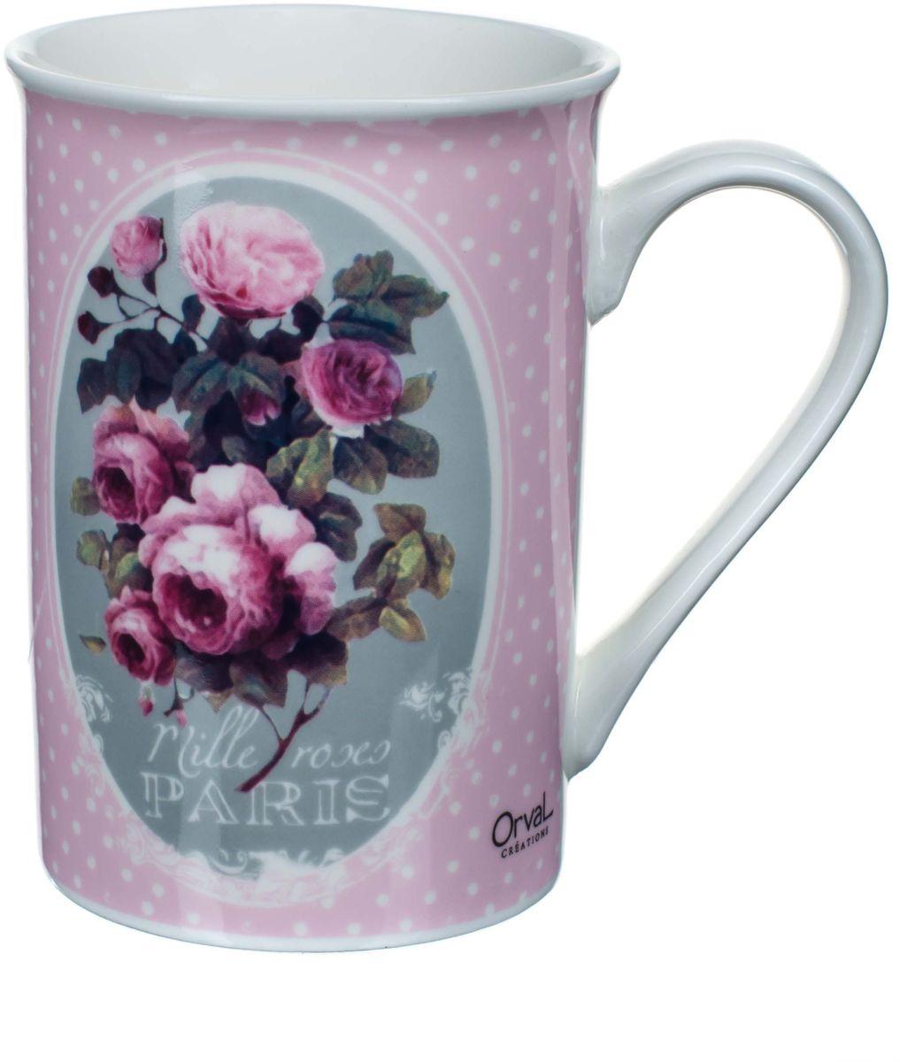 Кружка ORVAL Тысяча роз Парижа, 270 млVT-1520(SR)Изысканная, стильная и утонченная керамическая чашка всегда была и будет в цене, а все благодаря своему качеству и оригинальности.