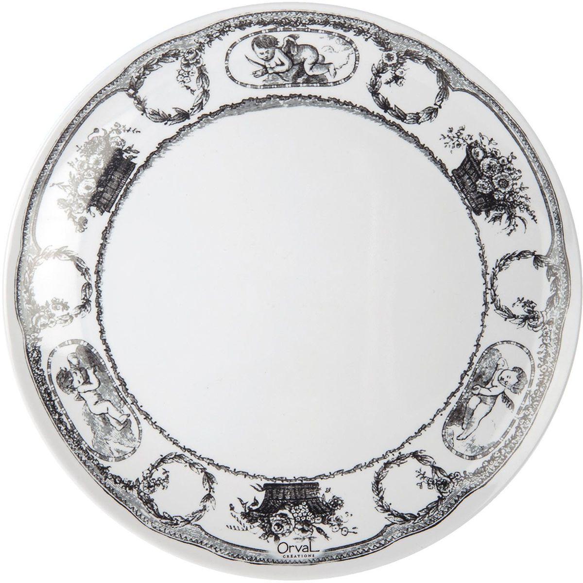Тарелка ORVAL Винтаж, диаметр 20 смVT-1520(SR)Меламиновая посуда- это уникальное сочетание европейского качества, благородного стиля и демократичной стоимости.