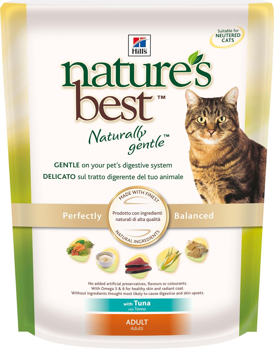 Корм сухой Hills Natures Best для взрослых кошек, с тунцом и овощами, 300 г0120710Корм сухой Hills Natures Best специально разработан для взрослых кошек от 1 года до 6 лет. Идеально сбалансирован, состоит из высококачественных натуральных ингредиентов с добавлением витаминов и минералов, таурина для поддержания нормальной работы сердца и функционирования сетчатки. Корм содержит целебные ингредиенты, включающие тунец, садовые овощи, рис и злаки. Консервирован естественным способом с использованием витамина Е и розмарина для сохранения свежести и отличного вкуса. Не содержит искусственных красителей или вкусовых добавок. Имеет натуральный вкус, который понравится вашему питомцу. Уникальная смесь антиоксидантных витаминов помогает поддерживать здоровой иммунную систему. Состав: с тунцом (минимум 7% тунца), мука из мяса домашней птицы, мука из маисового глютена, животный жир, молотая кукуруза, молотый рис, коричневый рис, мука из тунца, рыбный гидролизат, молотый ячмень, овсяная крупа, гидролизат белка, сухая свекольная пульпа, калия хлорид, L-лизина гидрохлорид, высушенная морковь, высушенный горох, томатные выжимки, порошок шпината, мякоть цитрусовых, виноградные выжимки, растительное масло, рыбий жир, DL-метионин, соль, кальция карбонат, клетчатка овса, оксид железа, дикальция фосфат, таурин, L-триптофан, витамины и микроэлементы. Среднее содержание нутриентов в рационе: протеины 32,1%, жиры 20,8%, углеводы 33,8%, клетчатка (общая) 1,7%, влага 5,5%, кальций 0,76%, фосфор 0,71%, натрий 0,43%, калий 0,76%, магний 0,07%, омега-3 жирные кислоты 0,57%, омега-6 жирные кислоты 3,53%, таурин 0,17%, витамин А 9950 МЕ/кг, витамин D 525 МЕ/кг, витамин Е 550 мг/кг, витамин С 70 мг/кг, бета-каротин 1,5 мг/кг. Товар сертифицирован.