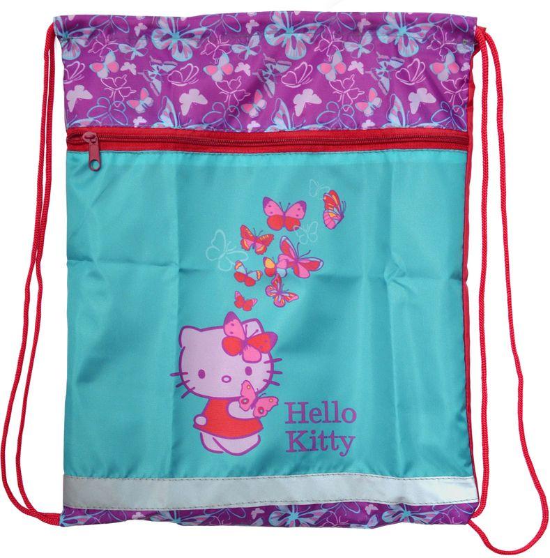 Action! Сумка для сменной обуви Hello Kitty HKO-ASS4301/4SMA510-V8-ETНа лицевой стороне большой карман на молнии. Размер 34х43 см