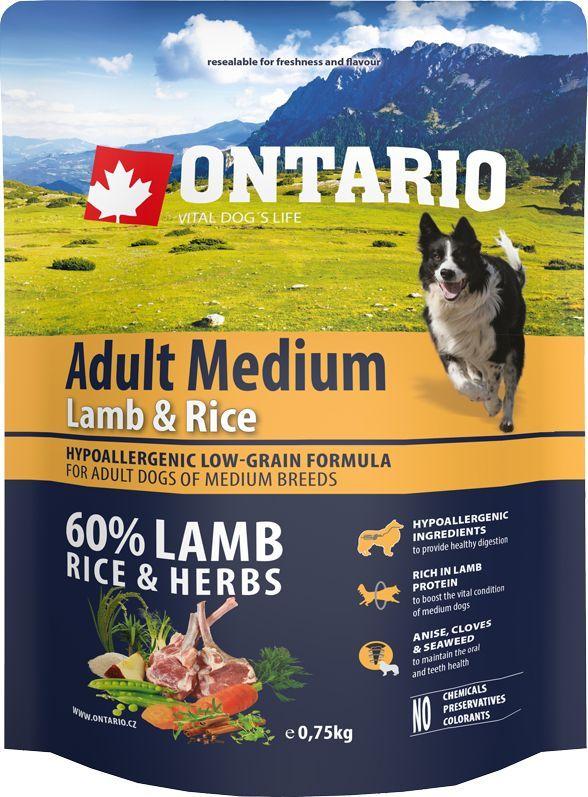 Консервы Ontario Adult Medium, для собак, с ягненком и рисом, 750 г0120710Гипоаллергенная формула с низким содержанием зерновых для собак средних пород. Полнорационный корм для собак.Сбалансированный состав для здорового функционирования всего организма. Высокое содержание белка из мяса ягненка для поддержания здоровья и хорошего самочувствия собаки. Гипоаллергенные ингредиенты обеспечивают здоровое пищеварение. Пивные дрожжи содержат витамины группы В и ферменты, способствуют росту полезных бактерий в кишечнике. Дрожжи улучшают состояние кожи и шерсти животных.Лососевый жир богат незаменимыми жирными кислотами Омега 3, оказывающими благотворное влияние на все органы и системы организма, особенно на шерсть животных. Омега 3 и Омега 6 жирные кислоты являются важными компонентами для поддержки функций сердца. Яблоки богаты клетчаткой (пектином), способствующей пищеварению и выводящей токсины из кишечника, а также являются источником витаминов и антиоксидантов.Содержащийся в корме специальный микс т трав и специй, особенно аниса, гвоздики смеси морских водорослей способствует поддержанию гигиены полости рта и здоровья зубов.Маннанолигосахариды естественным образом поддерживают работу кишечника и улучшают общее состояние здоровья животных.Рекомендации по кормлению: Давать ком сухим или слегка увлажненным. Всегда обеспечивайте собаке доступ к свежей воде. Количество корма, ежедневно необходимое собаке, зависит от окружающих условий, размера, возраста и уровня активности. Рекомендуемая дневная норма приведена в таблице. Для поддержания надлежащего состояния, следите, чтобы ваша собака была физически активна и не перекармливайте.Состав: дегидрированный ягненок (22%), рис (21%), груша, рисовые отруби (10%), куриный жир, индейка (7%), сушеные яблоки, пивные дрожжи, рыбий жир, сушеная морковь, маннанолигосахариды (180 мг/кг), фруктоолигосахариды(120 мг/кг), смесь морских водорослей, фенхель, тимьян, корица, анис, гвоздика, розмарин и юкка (120 мг/кг).Гарантированный анализ: б