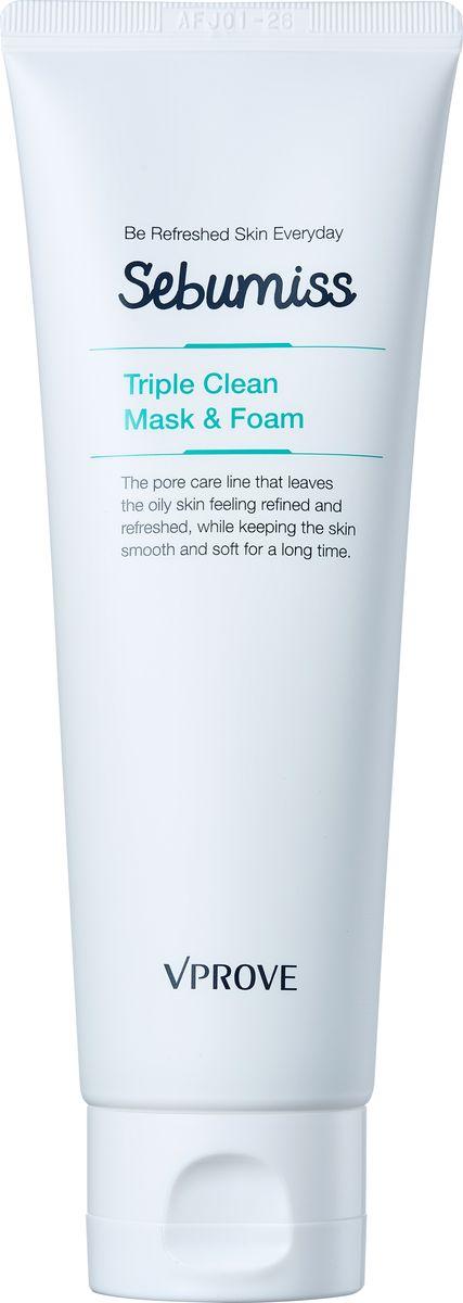 Vprove Пенка-маска для проблемной кожи Себумис, матирующая, 120 млFS-00103Линия разработана специально для жирной и комбинированной кожи с широкими порами. Средства освежают кожу, нормализуют гидролипидный баланс и делают рельеф более ровным, а кожу гладкой и упругой. В состав линии входит био-дермоглюкан, запатентованный брендом Vprove, он поддерживает иммунитет кожи, увлажняет ее и смягчает. Экстракт эвкалипта уменьшает сальный блеск, перилла нормализует гидролипидный баланс, а экстракт коры африканского дерева способствует сужению пор. Пенка интенсивно очищает и матирует кожу, способствует сужению пор.