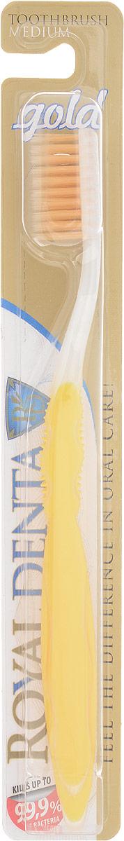 Royal Denta Зубная щетка Gold с наночастицами золота4605845001470GOLD Medium – зубная щетка средней жесткости с наночастицами золота