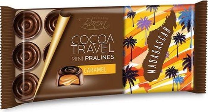 Baron Madagascar конфеты из тёмного шоколада с карамельной начинкой, 100г0120710Набор конфет из тёмного шоколада с карамельной начинкой
