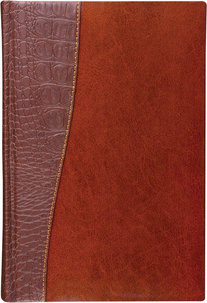 Brauberg Ежедневник Cayman 160 листов цвет коричневый формат A68360СЕжедневник обладает составляющими премиум класса: обложка - изысканная комбинация гладкой глянцевой кожи и материала, имитирующего кожу крокодила, внутренний блок - тонированная бумага с позолоченным боковым срезом.