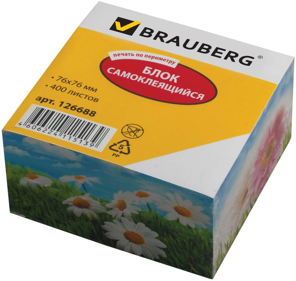 Brauberg Бумага для заметок с липким слоем 7,6 х 7,6 см 400 листов 1266887710891Самоклеящиеся листочки BRAUBERG привлекают к себе внимание и удобны для заметок, объявлений и других коротких сообщений. Легко крепятся к любой поверхности, не оставляют следов после отклеивания.