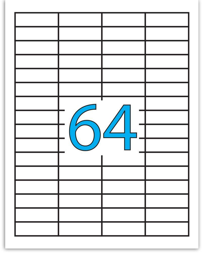 Brauberg Этикетка самоклеящаяся 1,7 х 4,8 см 64 шт х 50 листов610842Самоклеящиеся этикетки позволят быстро и качественно подготовить адресные наклейки, регистрационные номера, аннотации при помощи лазерного или струйного принтера. Совместимы со всеми видами офисной техники.