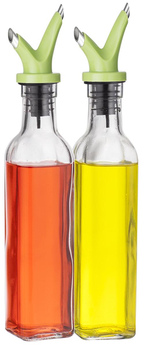 Набор емкостей для масла и уксуса SinoGlass, 250 млVT-1520(SR)Набор SinoGlass состоит из 2 емкостей для хранения масла и уксуса. Изделия выполнены из прочного стекла. Специальный дозатор позволяет экономично расходовать продукт и не добавлять лишнего. Такой набор емкостей стильно дополнит интерьер кухни и прекрасно послужит для хранения масла и уксуса. Отличный подарок к любому случаю, который порадует любую хозяйку. Размер емкости: 27 х 5 х 5 см.