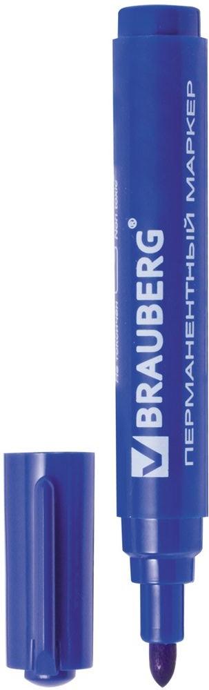 Brauberg Маркер перманентный Classic цвет синийFS-00897Маркер предназначен для письма на любой поверхности. Фетровый наконечник характеризуется повышенной износостойкостью.Ширина линии письма - 3 мм. Круглый наконечник. Цвет - синий. Водостойкие чернила. Для письма на любой поверхности. Нестираемый.