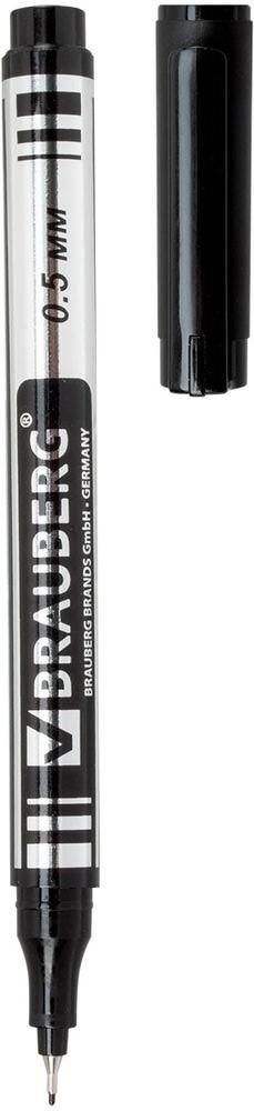 Brauberg Маркер перманентный Jet цвет черныйFS-00897Супертонкий металлический наконечник высокого качества прослужит дольше обычного. Благодаря меньшему размеру, он экономно расходует чернила и наносит надписи там, где не справляются маркеры с более толстыми наконечниками.Ширина линии письма - 0,5 мм. Супертонкий металлический наконечник. Цвет - черный. Быстросохнущие водостойкие чернила. Нетоксичен. Предназначен для письма на любой поверхности. Нестираемый.