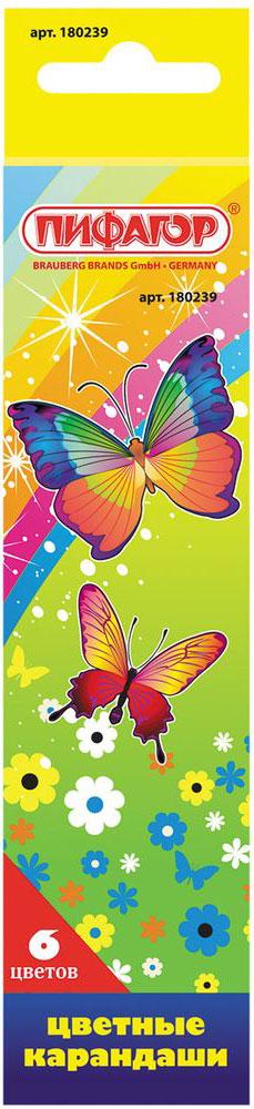 Пифагор Набор цветных карандашей Сказочный мир 6 цветов499958Цветные заточенные карандаши марки Пифагор изготовлены из экологически чистых материалов высшего качества. Красочная упаковка оформлена в четырех различных вариантах.6 цветов. Диаметр грифеля - 3 мм. Высокосортная древесина. Шестигранный корпус. Легко затачиваются. Картонная упаковка с европодвесом и отделкой выборочным лаком. Поставляется в нескольких вариантах цвета (без возможности выбора).