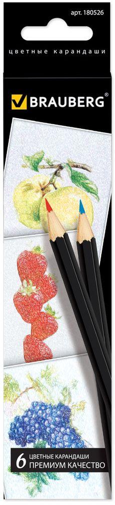 Brauberg Набор цветных карандашей Artist Line 6 цветов610842В набор входят 6 цветных карандашей. Снабжены грифелем, изготовленным по специальной рецептуре, что обеспечивает мягкость письма и насыщенность цветовой штриховки. Высокосортная древесина и качество исполнения гарантируют легкую заточку.6 цветов. Диаметр грифеля - 3 мм. Высокосортная древесина. Шестигранный корпус. Легко затачиваются. Картонная упаковка с европодвесом.
