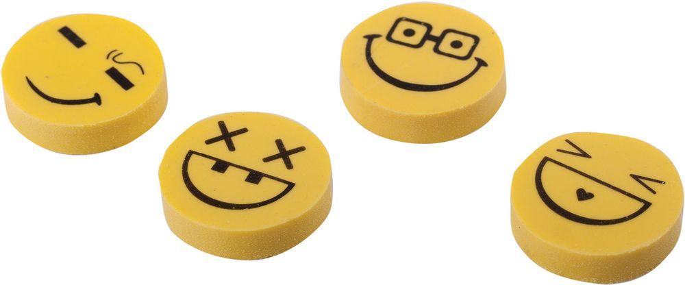 Пифагор Ластик Смайлики 4 штLF105019Стирательные резинки используются для удаления надписей, сделанных карандашом. Обеспечивают лёгкое и чистое стирание без повреждения поверхности бумаги и образования пыли.•Круглая форма. •Цвет желто-черный. С рисунком. •Размер - 24х24х6 мм. •Набор - 4 штуки. •Упаковка с подвесом.