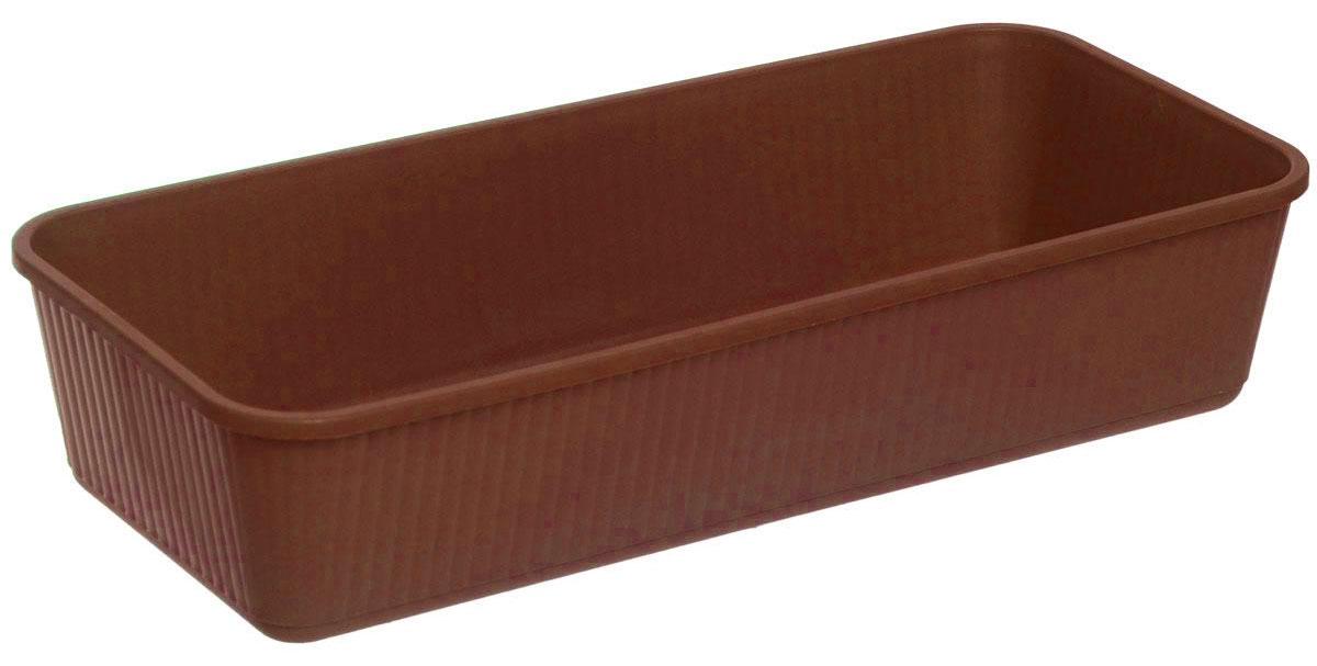 Ящик для рассады Альтернатива, цвет: коричневый, 40,5 х 18 х 8,5 смKL-01Ящик Альтернатива изготовлен из качественного пластика. Предназначен для выращивания рассады. Такой ящик прекрасно впишется в интерьер дома, террасы или балкона. Он хорошо держит влагу и не деформируется при переноске.