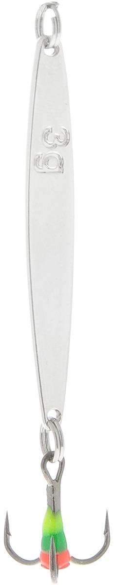 Блесна зимняя SWD, цвет: серебряный, 57 мм, 6 г03/1/12Блесна зимняя SWD - это классическая вертикальная блесна. Выполнена из высококачественного металла. Предназначена для отвесного блеснения рыбы. Блесна оснащена тройником со светонакопительной каплей.