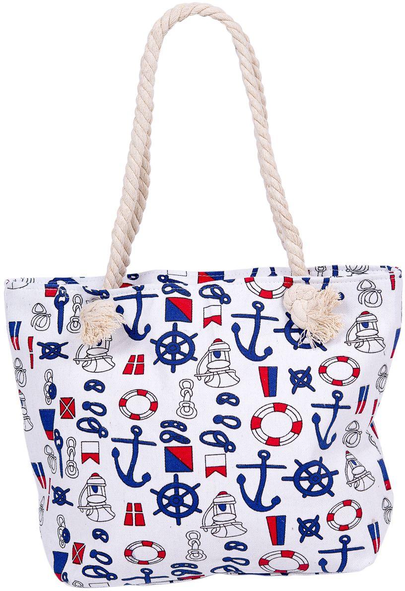 Сумка пляжная женская Nuages, цвет: белый. NS4194/1BP-001 BKТекстильная сумка с принтом. Может c одинаковым успехом использоваться как пляжная или летняя городская сумка. Одно отделение. Внутренний карман. глубина: 10 см; ширина: 45 см; высота: 40 см