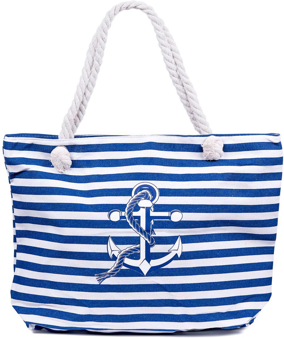 Сумка пляжная женская Nuages, цвет: синий. NS4197/3RivaCase 8460 blackТекстильная сумка с принтом. Может c одинаковым успехом использоваться как пляжная или летняя городская сумка. Одно отделение. Внутренний карман и наружный карман сзади глубина: 10 см; ширина: 45 см; высота:33 см